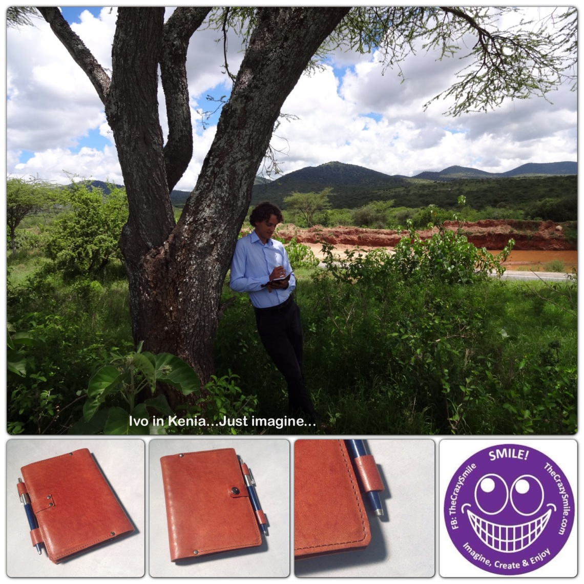 Leather notebook cover in Kenya