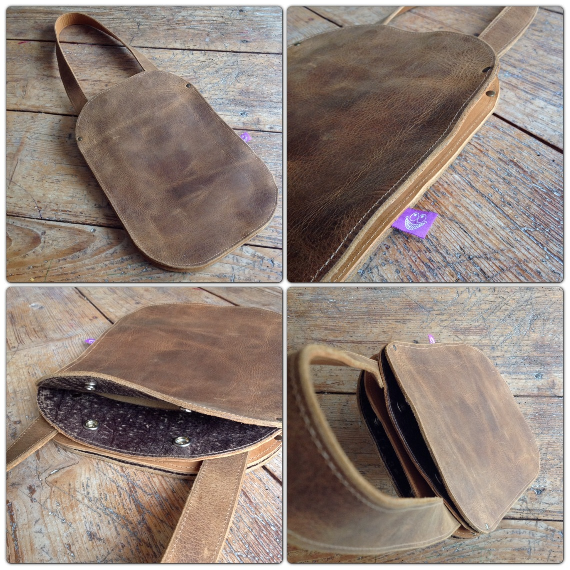 Brown leather bag by TheCrazySmile