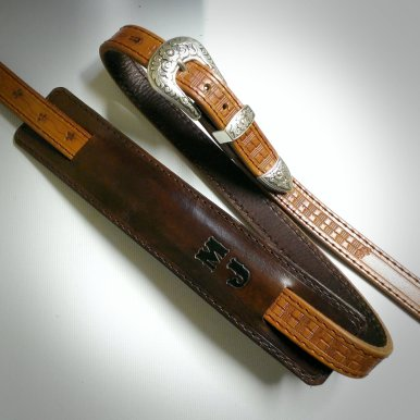 Leather guitar strap by TheCrazySmile
