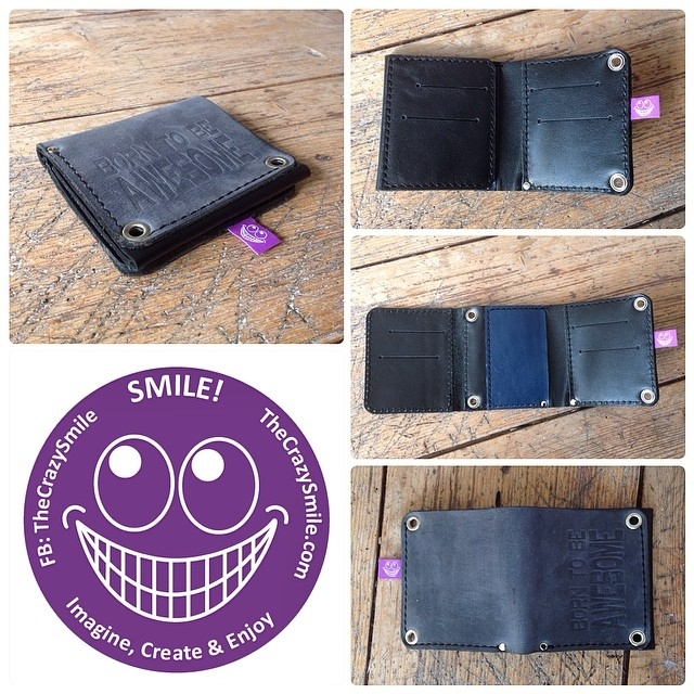 Handmade leather wallet by TheCrazySmile