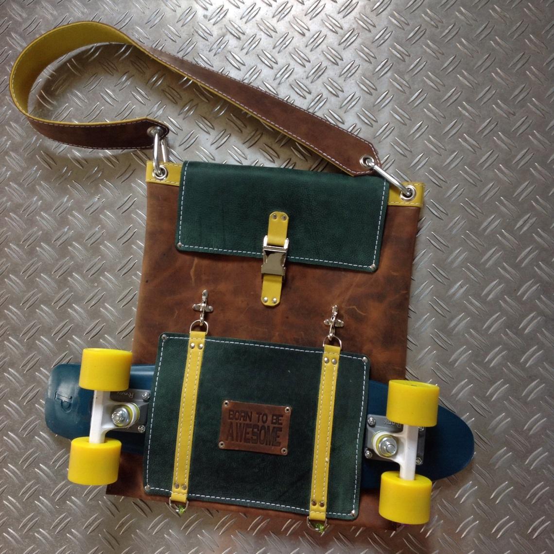 Leather Skatebag by TheCrazySmile