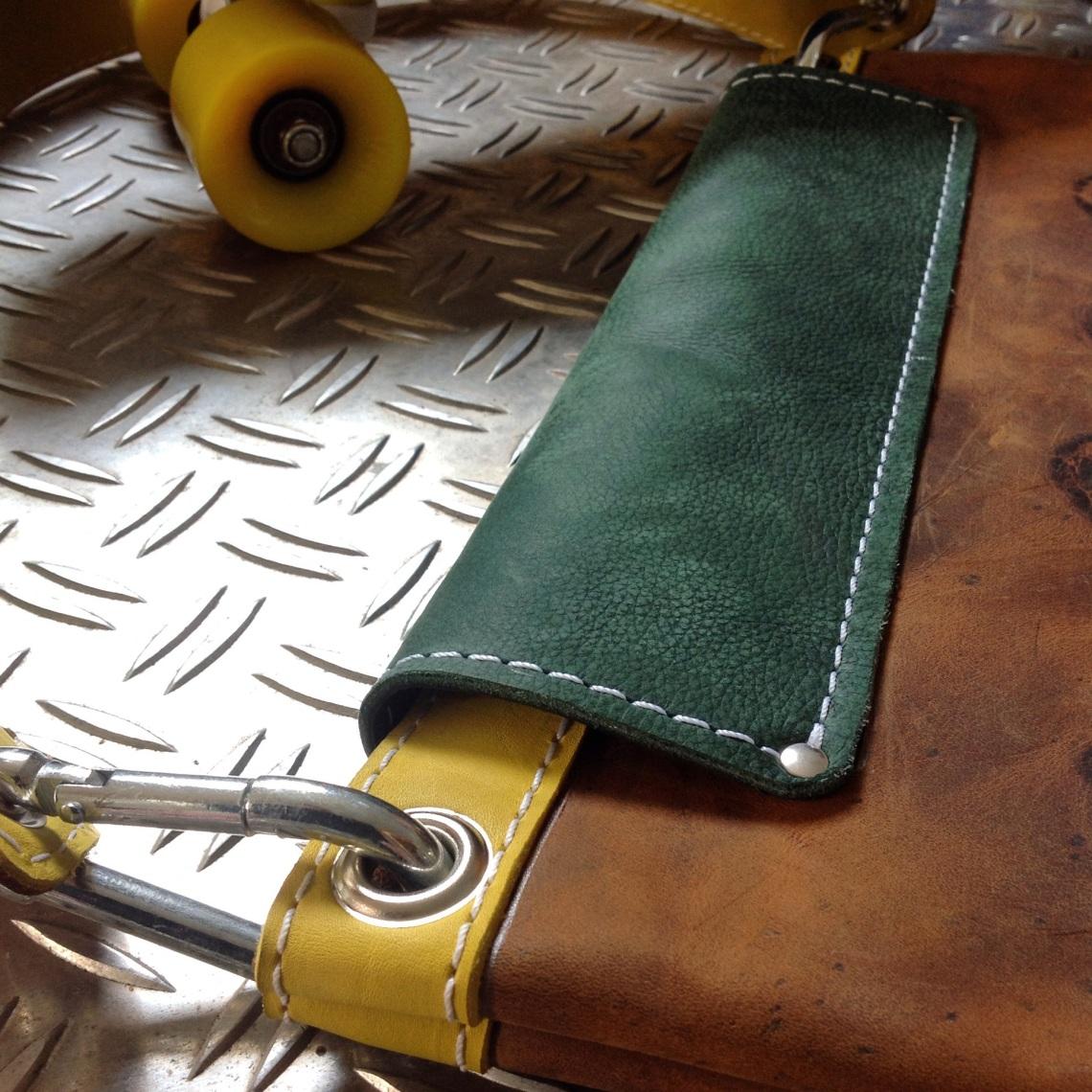 Leather Skatebag detail top