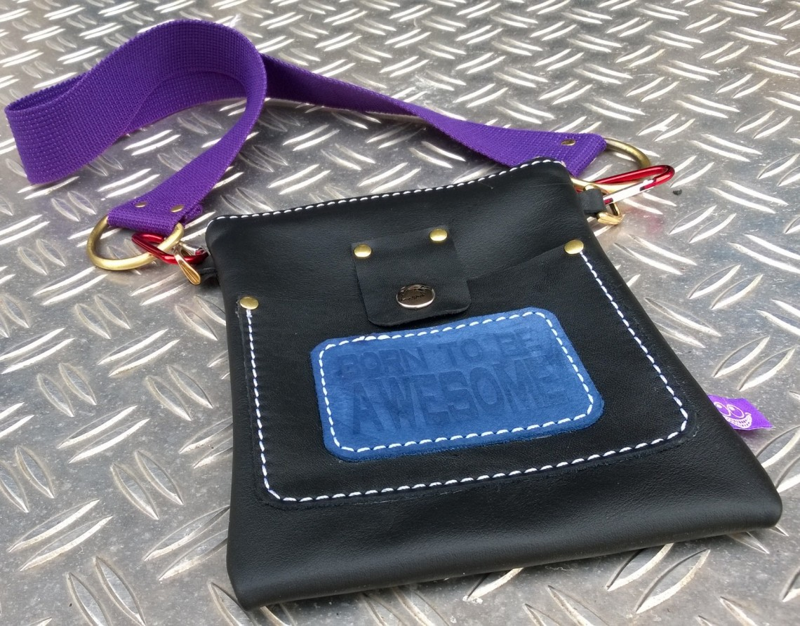 Leather bag designed by Thomas