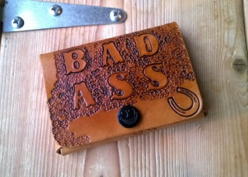 bad ass leather card holder
