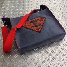 Superhero leather bag