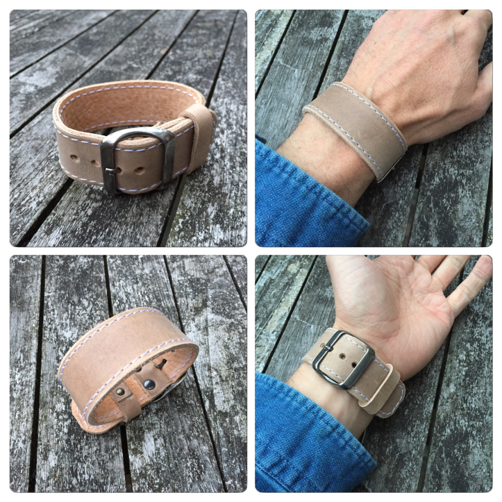 Leather bracelet sand