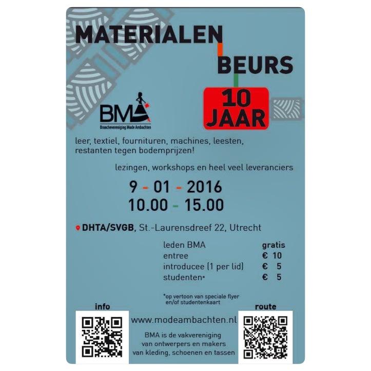 Materialen Beurs 2016 Utrecht