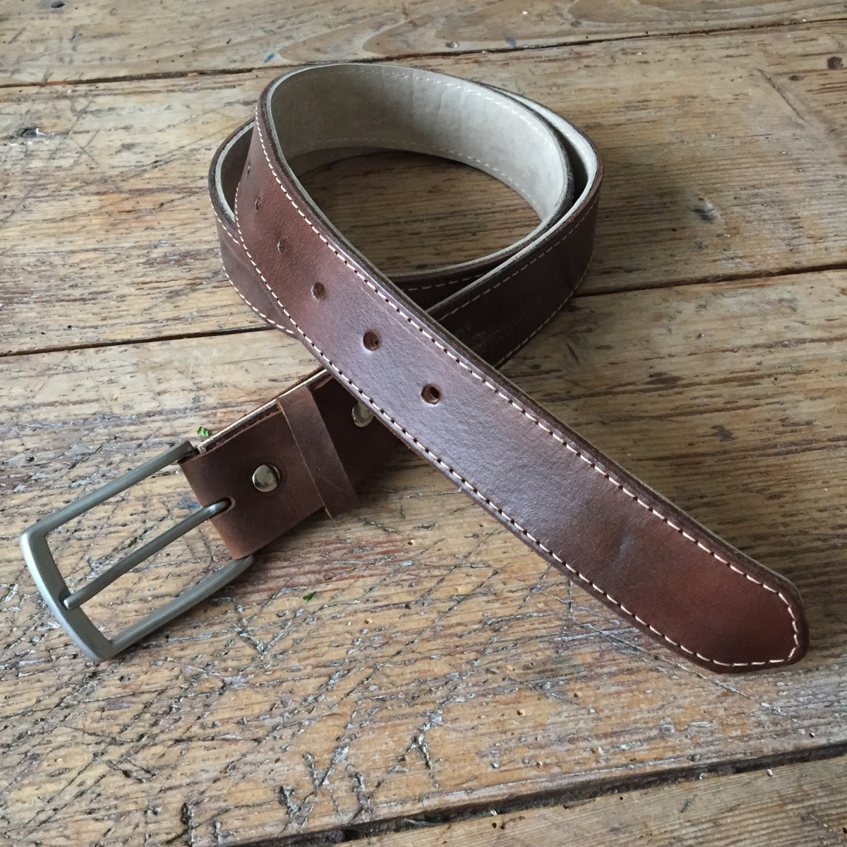 brown leather belt made to last thecrazysmile