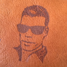 Photo on leather
