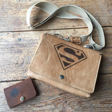 Leather Superbag with mini wallet