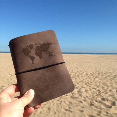 Leather travel journal cover