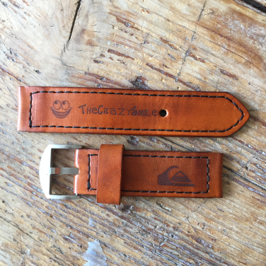 Leather watch strap for Quiksilver Lanai with logo