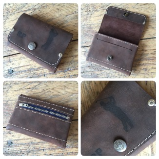 Custom leather wallet with laser engraving