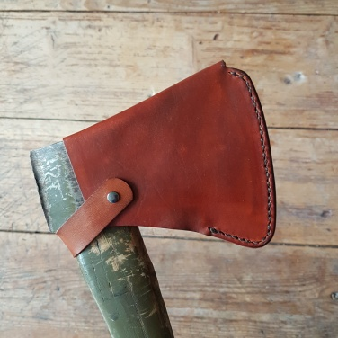 Custom leather Ax cover