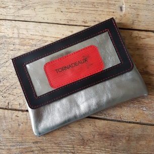 Leather Clutch with laserengraved logo
